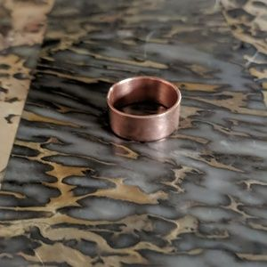 Jewelry - Copper Band Wide (8.0) Hand Forged